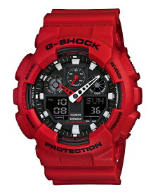【送料無料!+ポイント2倍以上!!】【国内正規品CASIOG-SHOCK】カシオGショック腕時計ジーショックg-shockgショックアナデジブラックレッドGA-100B-4AJF