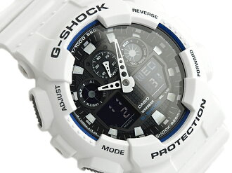 "+ CASIO Casio G shock ""an analog-digital watch black blue white GA-100B-7ADR GA-100B-7"