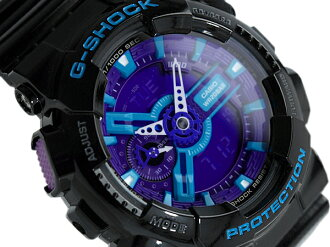G shock 6600 g-shock CASIO Casio ハイパーカラーズ an analog-digital watch blue purple black GA-110 GA-110HC-1ADR HC-1