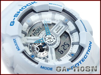 International model of G shock, Casio reimport an analog-digital watch Breezy Colors ブリージーカラーズ blue x White Dial GA-110SN-7ADR