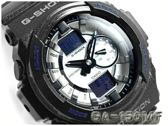 Casio g shock overseas imports metallic dial series mens watch metallic silver x sparkling black GA-150MF-8ADR
