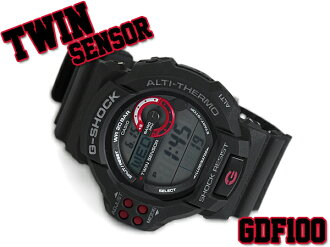 G shock 6600 g-shock CASIO Casio twin sensor with digital watch black red GDF-100-1 A GDF-100-1ADR
