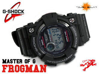 + G shock 6600 g-shock CASIO Casio FROGMAN Frogman diver's solar digital watch black grey GF-1000-1 GF-1000-1DR