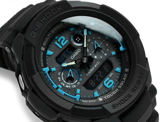 Casio G shock overseas imports model sky cockpit radio solar an analog-digital watch black dial polyurethane belt GW-3500B-1 A2DR