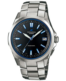 Osh holes OCEANUS CASIO Casio electric wave solar analog watch blue-black silver OCW-S100-1AJF domestic regular article