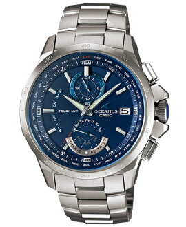 + Oceanus OCEANUS CASIO Casio wave solar analog watches blue silver OCW-T1000F-2AJF domestic genuine