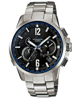 Osh holes OCEANUS CASIO Casio electric wave solar analog watch blue-black silver OCW-T2000-1AJF domestic regular article fs3gm