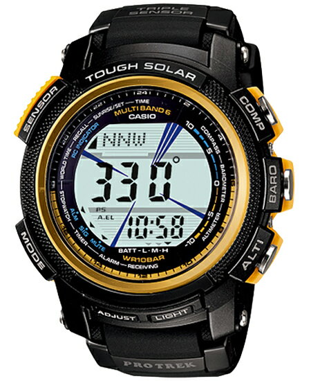 Protrek PRO TREK Casio wave solar Digital Watch Gold black PRW-2000A-1JF