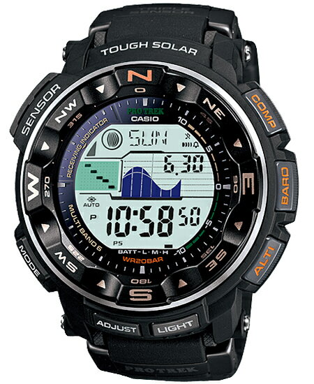 Proto Lec PRO TREK Casio electric wave solar digital watch black PRW-2500-1JF