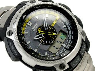 Casio overseas model protrek triple sensor radio solar an analog-digital watch Titan belt PRW-5000T-7 PRW-5000T-7ER