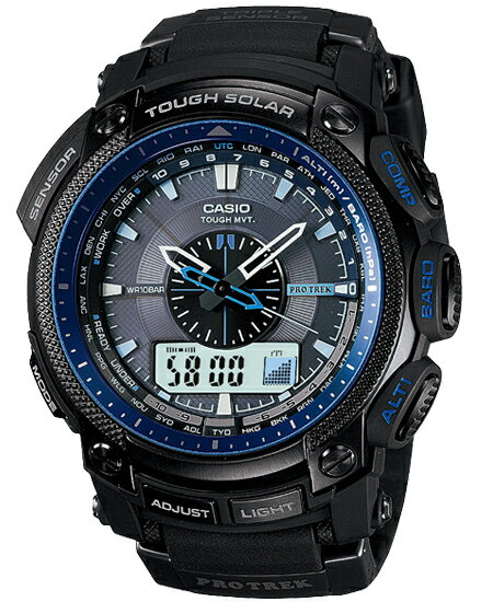 Proto Lec PRO TREK Casio electric wave solar digital watch blue-black PRW-5000Y-1JF