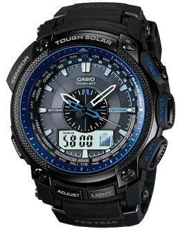 Proto Lec PRO TREK Casio electric wave solar digital watch blue-black PRW-5000Y-1JF