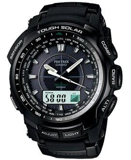Proto Lec PRO TREK Casio electric wave ソーラーアナデジ watch black PRW-5100-1JF fs3gm