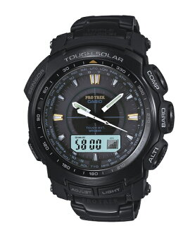 Proto Lec PRO TREK-limited Casio electric wave ソーラーアナデジ watch black PRW-5100YT-1CJF