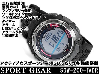 + CASIO Casio SPORTS GEAR sports gear overseas model digital watch urethane belt SGW-200-1VDR