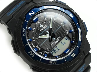 Imports overseas model SPORTS GEAR sports gear twin sensor powered mens digital watch black × blue urethane belt SGW-500H-2BVDR
