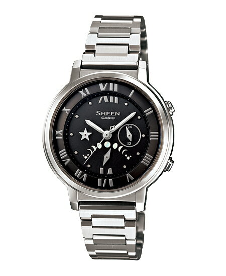 + Casio scene ladies watch solar Black Silver SHE-3501SBD-1AJF