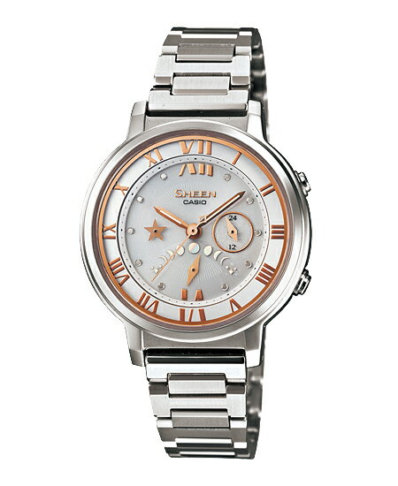 Casio scene Lady's watch solar white silver SHE-3501SBD-7AJF fs3gm