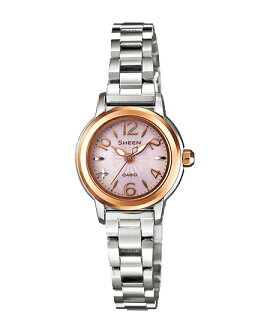 Casio scene ladies watch solar Pink Silver SHE-4502SBG-4AJF