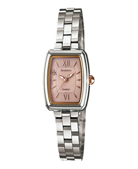 Casio scene Lady's watch solar pink silver SHE-4504SBD-4AJF fs3gm