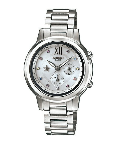 Casio scene Lady's watch electric wave solar silver SHE-7506D-7AJF