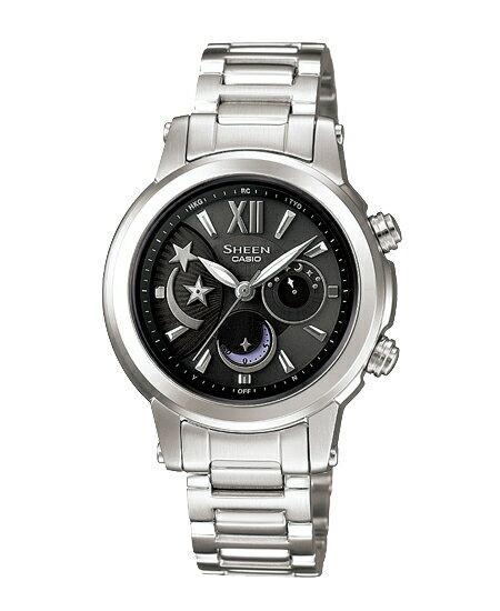 Casio scene Lady's watch electric wave solar black silver SHN-7501D-1AJF