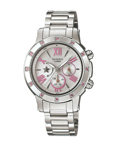 Casio scene Lady's watch electric wave solar pink silver SHN-7504D-7AJF