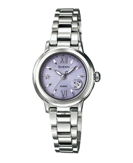 Casio scene Lady's watch electric wave solar purple silver SHW-1500D-6AJF