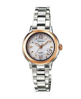 Casio scene Lady's watch electric wave solar white X gold SHW-1500GD-7AJF