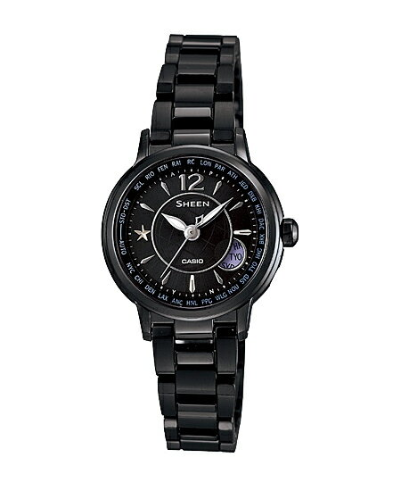 CASIO SHEEN] CASIO scene ladies watch radio solar all-black SHW-1501BD-1AJF