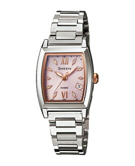 Casio scene Lady's watch electric wave solar pink silver SHW-1503D-4AJF