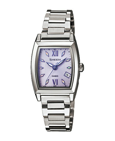 Casio scene Lady's watch electric wave solar purple silver SHW-1503D-6AJF fs3gm