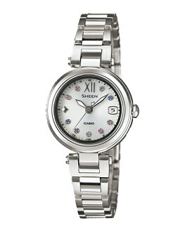 Casio scene ladies wristwatch radio Solar Silver SHW-1504D-7AJF