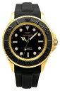 手錶 - 【テクノス】【TECHNOS】【送料無料】【訳あり:A】【アウトレット】【正規品】【腕時計】TECHNOS/テクノス T4611GB 回転ベゼル シリコンベルト 腕時計 メンズ ブラック×ゴールド
