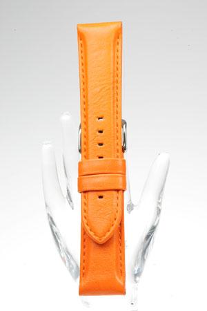YC001o【牛革肉厚ベルト】 - 色:オレンジ / サイズ:18-16mm,20-18mm,24-22mm