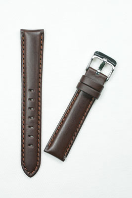YC006b 牛革肉厚 チョコ色 松重オリジナル サイズ:18-16mm