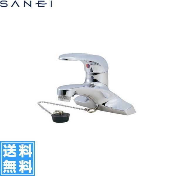 三栄水栓[SAN-EI]シングル洗面混合栓(ゴム栓付)K5710V[一般地仕様]【送料無料】