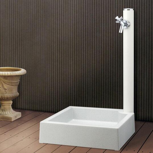 ポイント10倍水栓柱立水栓水道エクステリアガーデンニング庭DIY蛇口屋外水栓前澤化成工業丸型アルミ水