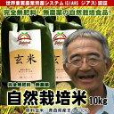 無肥料無農薬米まっしぐら玄米10kg(平成29年度産・青森県...