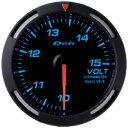 【送料無料】Defi(デフィ)メーター レーサーゲージ60φ 電圧計 照明色全3色