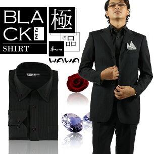 アンコール ワイシャツブラックワイシャツ・スリムタイプ ブラック