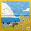 風呂敷 ふろしき 猫 綿小ふろしきたまのお散歩 向日葵(ひまわり)内祝 結婚祝 お祝い 長寿 引出物