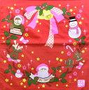 【風呂敷(ふろしき)】和心チーフ クリスマス【トナカイ・サンタクロース・リース】【メール便発送OK!】