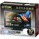 TDK 8倍速録画用 DVD-R DL ワイドプリント CPRM対応 10枚 DR215DPWB10S