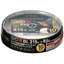 TDK 8倍速録画用 DVD-R DL ワイドプリント CPRM対応 10枚 DR215DPWB10PS