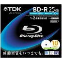 【送料無料】TDK 2倍速録画用ブルーレイディスク BD-R ホワイト 10枚 BRV25PWA10S