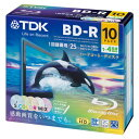Five colors of ten pieces of BD-R 25GB Blu-ray Disc color mixture BRV25PWMB10A for 4 TDK double speed recording