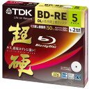 Five pieces of BD-RE DL 50GB Blu-ray Disc white BEV50HCPWA5A for 2 TDK super hard double speed recording