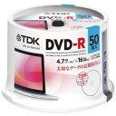 【ポイント10倍】TDK 16倍速 データ用DVD-R 4.7GB ホワイト 50枚 DR47PWC50PUE