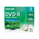 マクセル maxell 録画用 DVD-R 1-16倍速対応(CPRM対応) ひろびろ美白レーベル 120分 3枚 DRD120WPE.3S